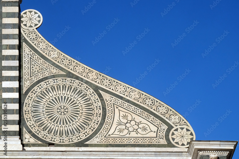 Fototapety, obrazy: Detail from facade of Santa Maria Novella Dominican church in Florence, Italy