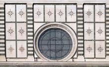 Detail From Facade Of Santa Maria Novella Dominican Church In Florence, Italy