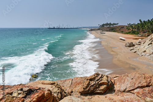 India, Kerala. Beach of the Indian ocean Wallpaper Mural