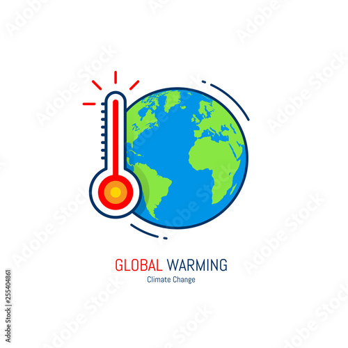 Fotografia  Global warming icon