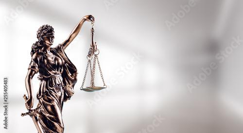 Fotografia Symbol of law, Themis in modern hall.