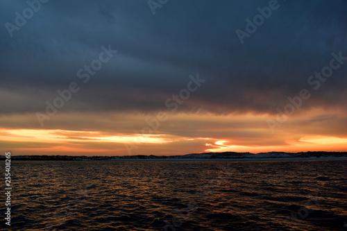 sunset off the coast of florida