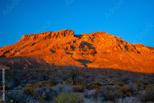 Photo  Mojave Desert Alpenglow