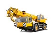Yellow Mobile Crane Truck