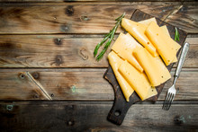 Thin Slices Of Rosemary Cheese.