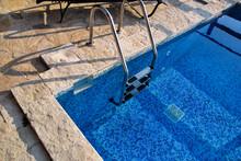Handrail On Pool. Swimming Poo...