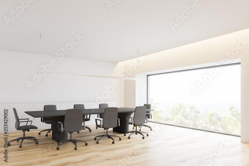 Photo sur Toile Pain Minimalistic white conference room corner