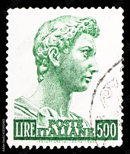 Head of the statue of Saint George, Donatello's St Canvas Print