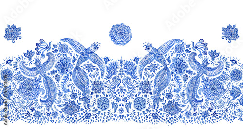 Fotografie, Obraz  Fringe border seamless pattern