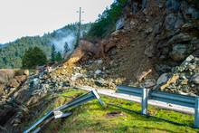 Highway Closed Rock Slide Ahead