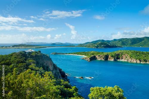 British Virgin Islands Caribbean Scenic View Canvas Print