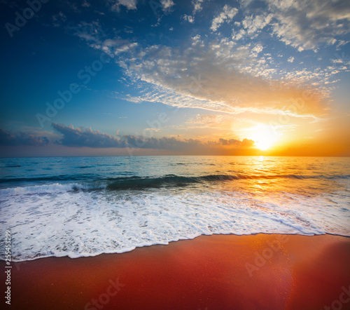Fototapety, obrazy: sunset and sea