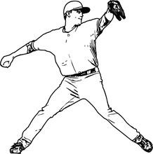Baseball Infielder Vector Illustration