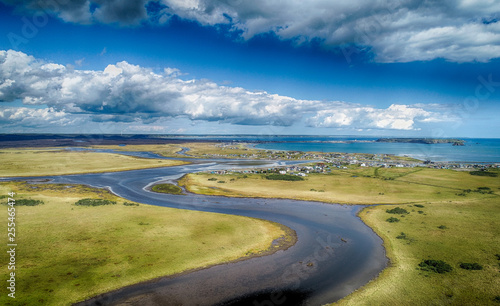 湿原の空撮 Canvas-taulu