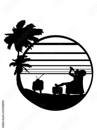 Saufen Palmen Insel Meer Urlaub Sonne Bier Trinken Durst