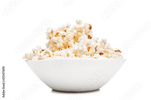 white bowl with popcorn Fotobehang