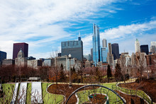 Park In Downtown Chicago And C...
