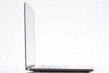 Side View Of Modern Laptop