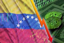 Venezuela Flag And Cryptocurre...