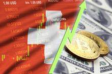 Switzerland Flag And Cryptocur...