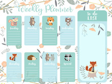 Pastel Weekly Planner With Wil...