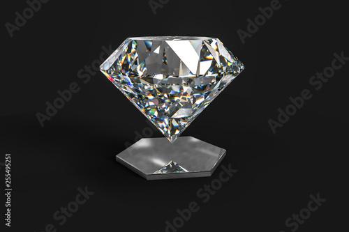精品钻石,三维渲染 Canvas Print