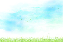 空と草原と舞い上がる...