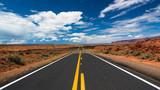 Fototapeta Tęcza - Desert road