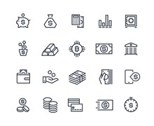 Finance Line Icons. Money Busi...