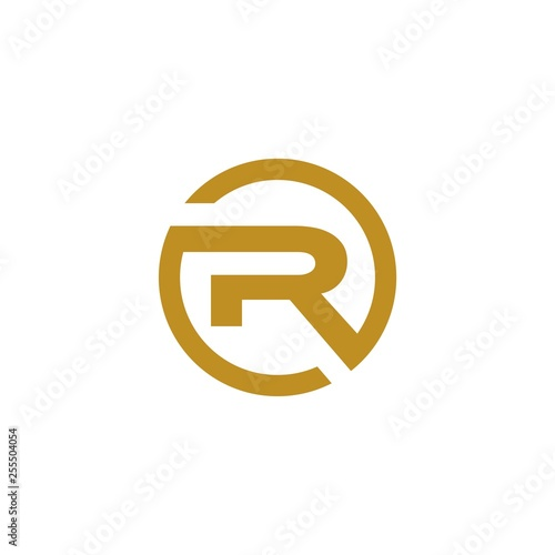 Photo  R circle logo vector abstract - Vector
