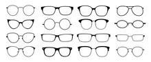 Glasses Silhouette. Sun Glasse...