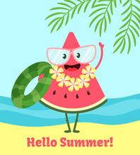 Watermelon Summer Poster. Post...