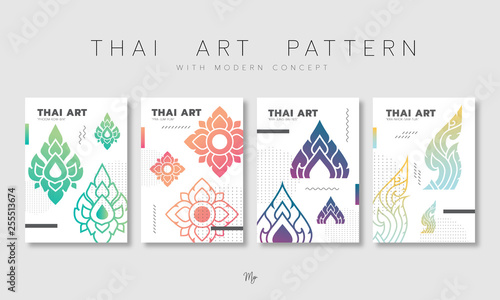 Set of Thai pattern Fototapete
