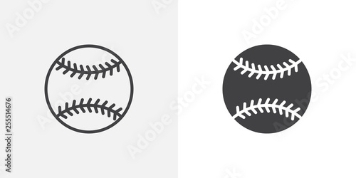 Photo Baseball ball icon