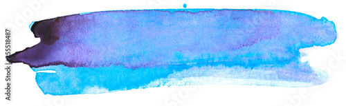 watercolor blue with paper texture. paint on paper. - 255518487