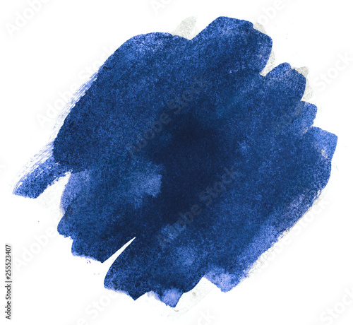 watercolor blue with paper texture. paint on paper. Wall mural