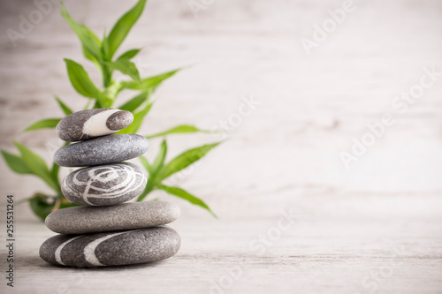 Foto op Canvas Zen Spa stones.