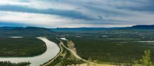 Town Of Carmacks Yukon River Landscape YT Canada