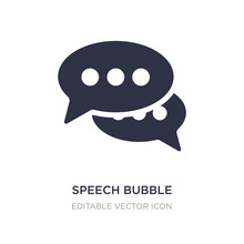 Speech Bubble With Ellipsis Icon On White Background. Simple Element Illustration From Shapes Concept.