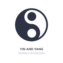 Yin And Yang Icon On White Background. Simple Element Illustration From Shapes Concept.