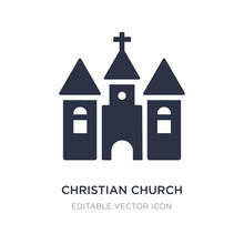 Christian Church Icon On White Background. Simple Element Illustration From Shapes Concept.
