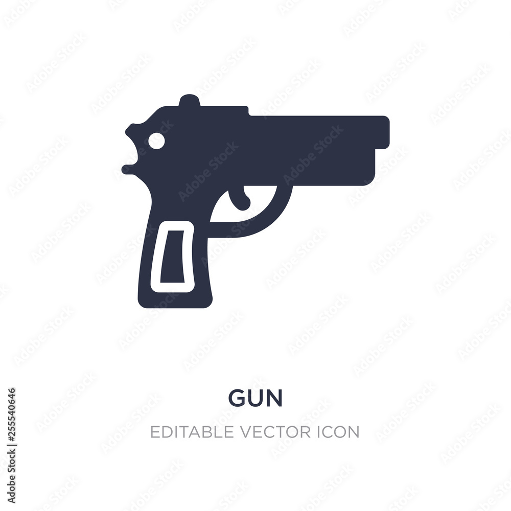 Fototapeta gun icon on white background. Simple element illustration from Signs concept.