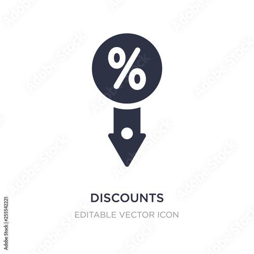 Fotografía  discounts icon on white background