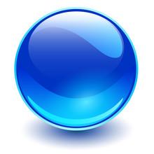 Glass Sphere Blue, Vector Shin...