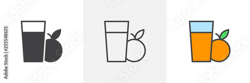 Fotografia Orange juice glass icon