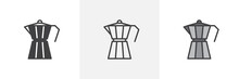 Geyser Coffee Maker Icon. Line...