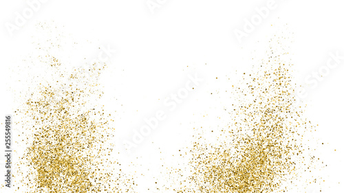 Photographie Gold Glitter Texture Isolated On White