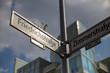 Traffic Sign Friedrichstrasse Zimmerstrasse