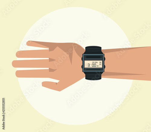 Fotografía  Hand with wristwatch visible