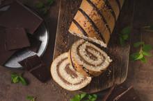 Homemade Chocolate Banana Roll...